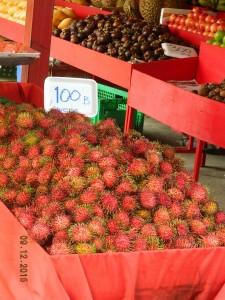 Fruits sur un marché