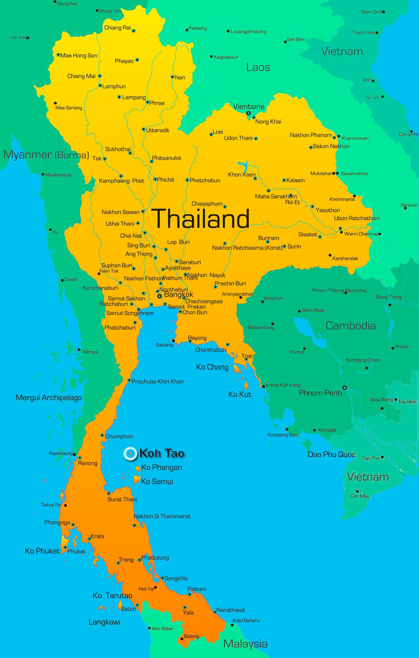 Carte Complete Thailande.Pourquoi Choisir D Aller En Thailande Ecrivaindumonde