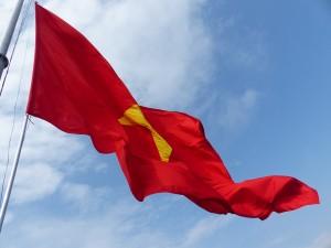 Le drapeau de la tour à Lung Cu